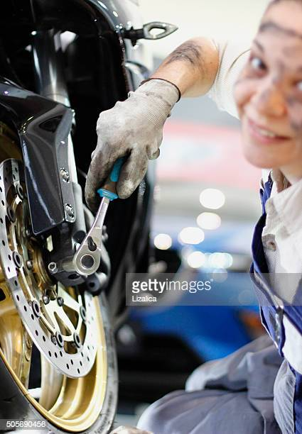 working at motorcycles - mechatronics stock pictures, royalty-free photos & images