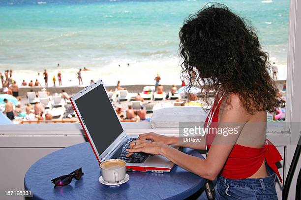 Working at the beach 3