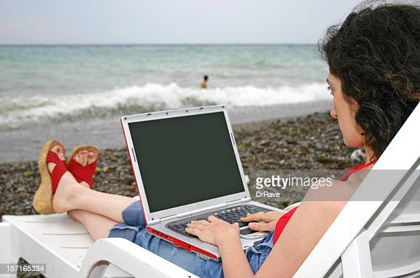 Working at the beach 4