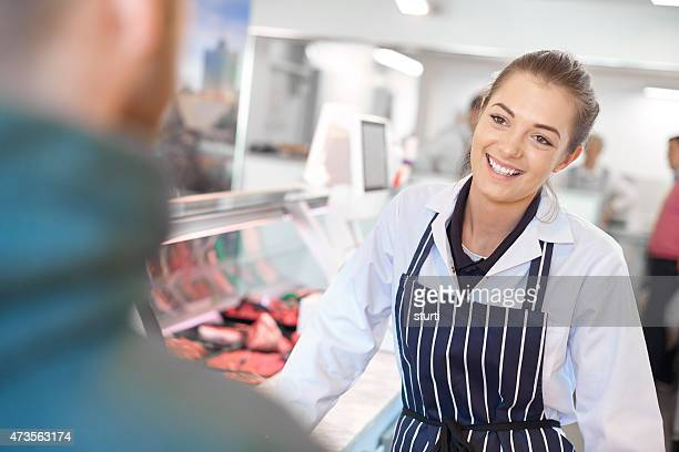 working at the butcher's
