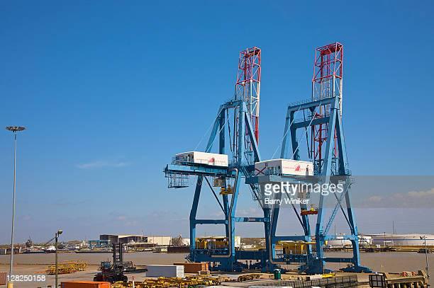 Working cranes at port of Mobile, Alabama