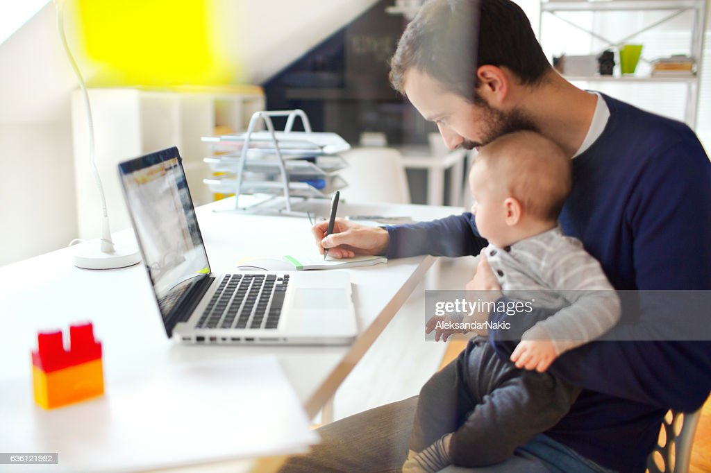 Working dad : Stockfoto