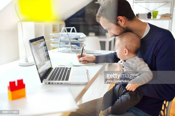 working dad - working from home stock pictures, royalty-free photos & images