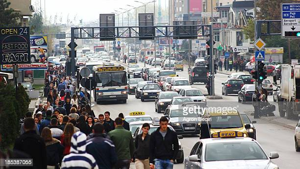 Working day in Pristina, Kosovo's capital. Pristina is also known as a center of political administration, financial institutions and universities....