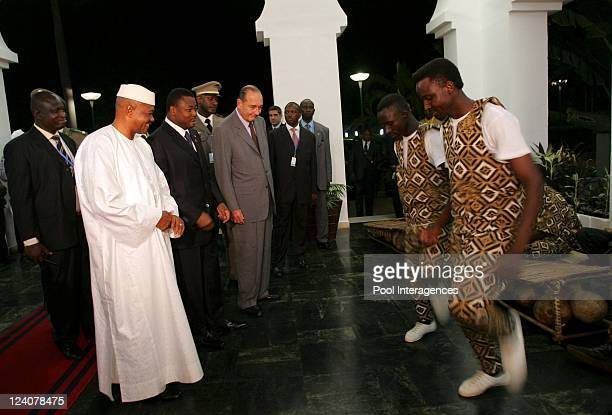 Working dinner on the occasion of the 23rd AfricaFrance Summit In Bamako Mali On December 02 2005 Working dinner at the presidential palace Koulouba...