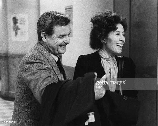 "Working"" Episode 19 -- Pictured: William Daniels as Dr. Mark Craig, Rita Zohar as Dr. Vera Anya"