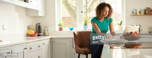 working from home - laptop stock pictures, royalty-free photos & images