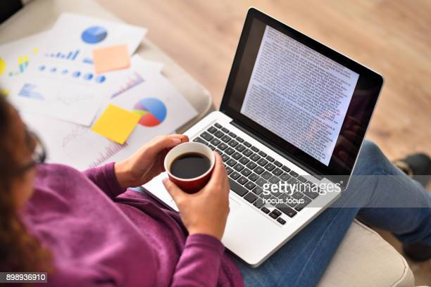 working from home - looking over shoulder stock pictures, royalty-free photos & images