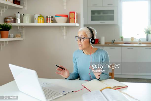 working from the comfort of my home - teaching stock pictures, royalty-free photos & images