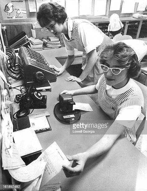 JUL 28 1961 JUL 29 1961 Working Girl may be teeage nightingale Candy Stripers at St Luke's Hospital Barbara Spooner of 840 Holland St Lakewood and...