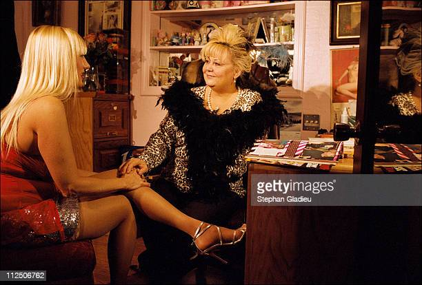 A working girl talking to Madame Suzette the manager of the Moonlite Bunny Ranch a legal brothel owned by Dennis Hof in Lyon County one of the fews...