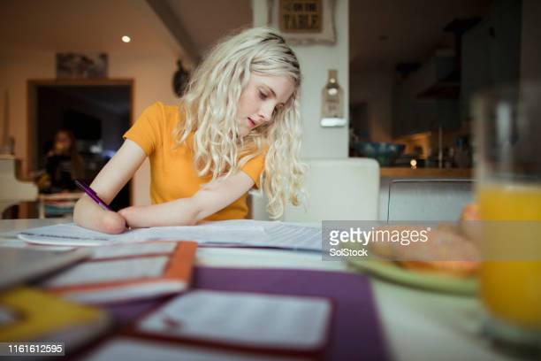 working hard doing homework - disabilitycollection stock pictures, royalty-free photos & images