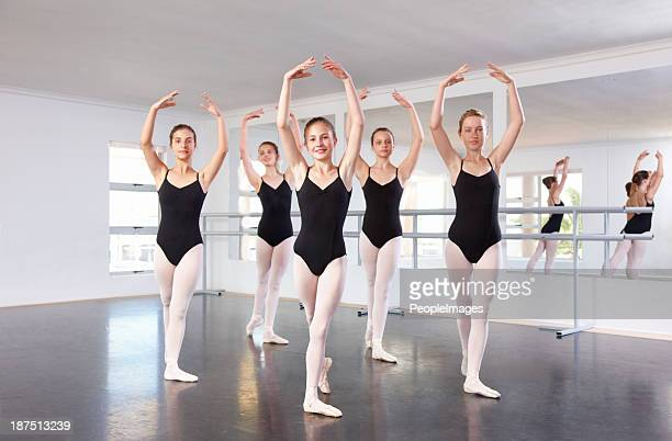Working hard to be great ballerinas