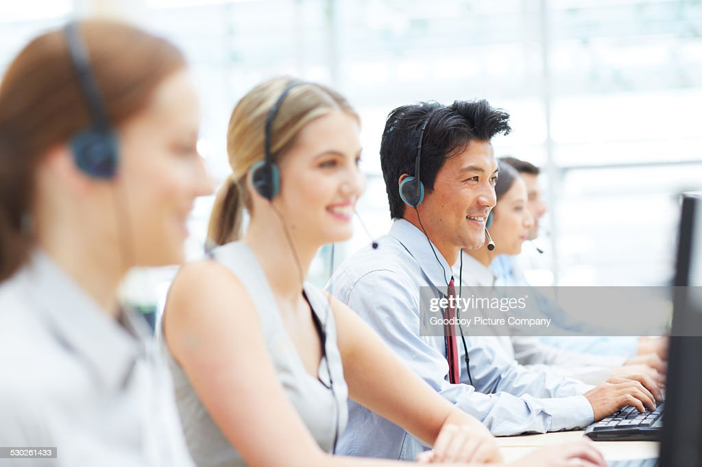 Working hard to help their clients : Stock Photo