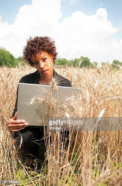 Arbeiten in einem Feld Business-Konzept