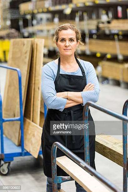 Working in a hardware store warehouse