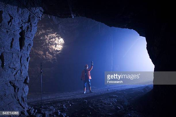 Working in a mine