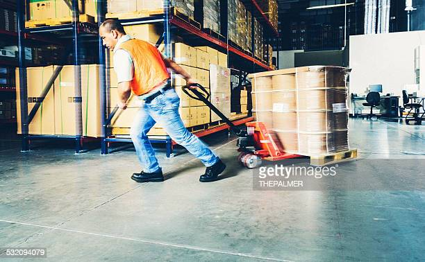 Working in a warehouse