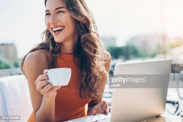 working in style - coffee drink stock pictures, royalty-free photos & images