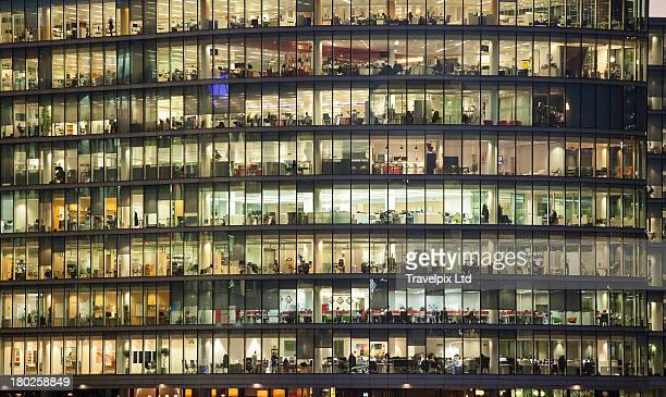 Working late, Financial District, London