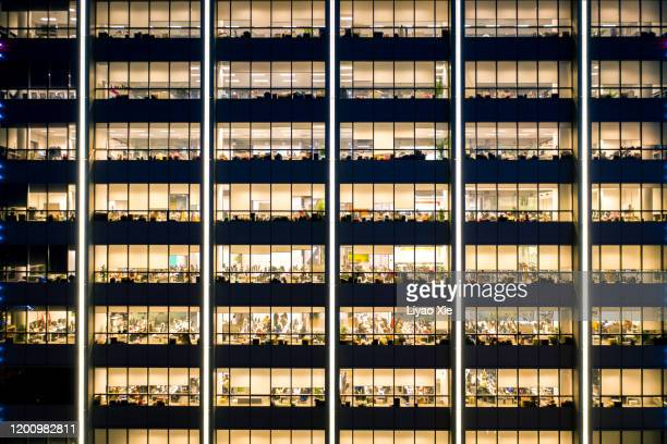 working late in the office - liyao xie stock pictures, royalty-free photos & images