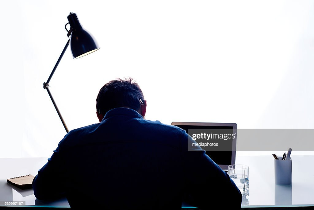 Working late : Stock Photo