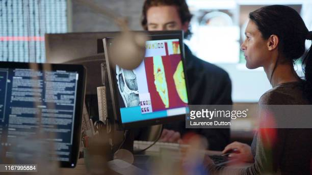 working medical monitors. - neuroscience stock pictures, royalty-free photos & images