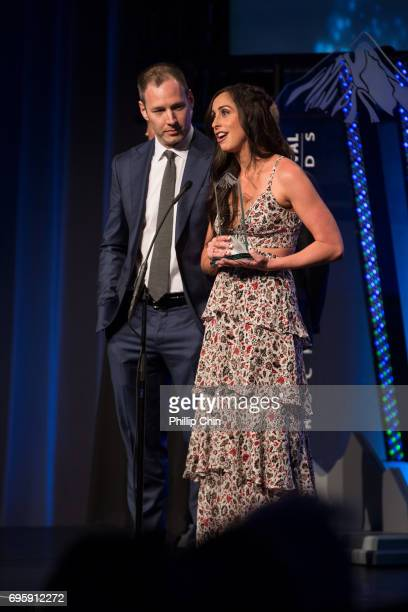 'Working Moms' Producer and Actor Philip Sternberg and Creator and Actor Catherine Reitman receive the Canadian Innovative Producer Award at the...