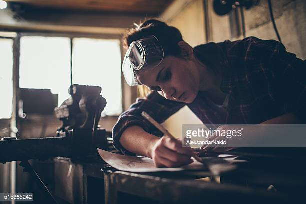 working on a blueprint - craftsman stock photos and pictures