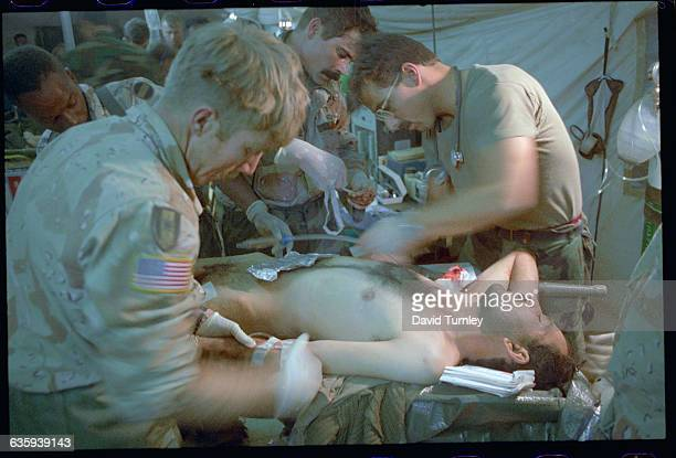 Working on a Wounded Soldier in MASH Hospital