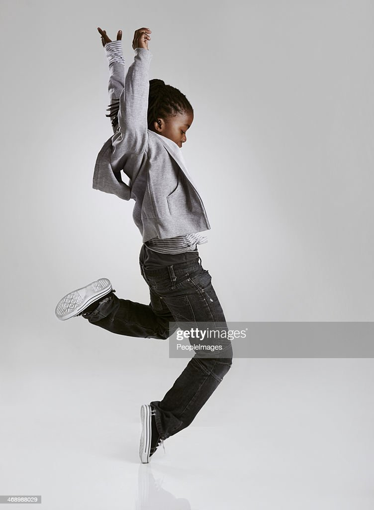 Working on his hip hop routine : Stock Photo