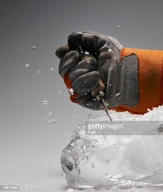 Working on Ice Block