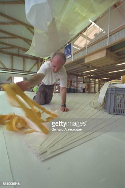 bonding the panels prior to stitching