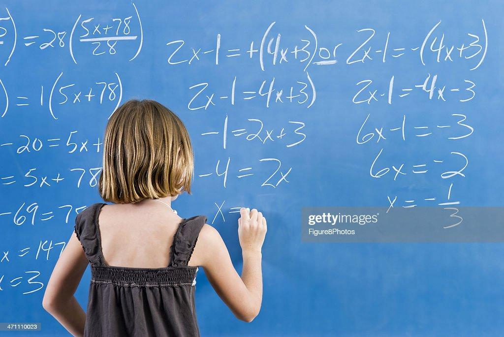 Working On Math Equation Stock Photo | Getty Images