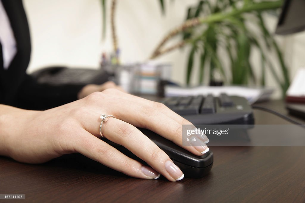 Working on the computer : Stock Photo
