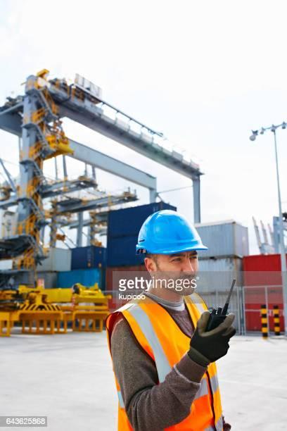 Arbetar i hamnen