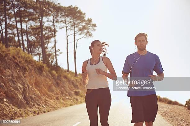 Trabajando en sus metas de ejercicios juntos