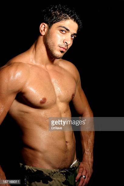 working out 4 - naturist male stock pictures, royalty-free photos & images