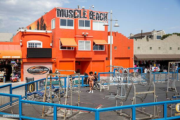 Working Out at Muscle Beach, Venice California