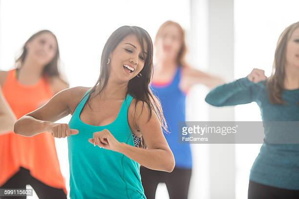 Working Out During a Dance Fitness Class