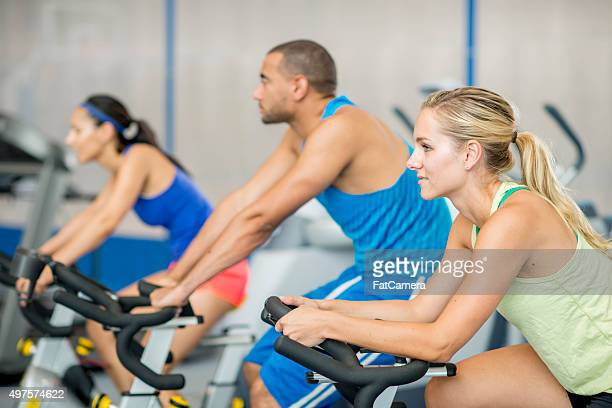 Working Out in a Spin Class