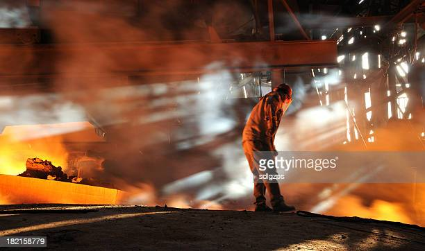 working - steelmaking stock photos and pictures