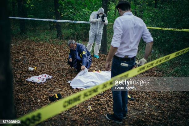 fbi working - murder stock pictures, royalty-free photos & images