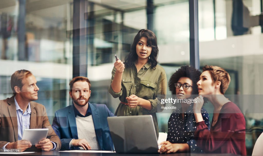 Working productively as a unit : Stock Photo