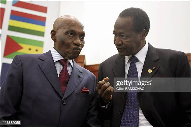Working Session On The 2Nd Day Of The African-French Summit - On December 4Th, 2005 - In Bamako, Mali - Here, Abdoulaye Wade, The President Of...