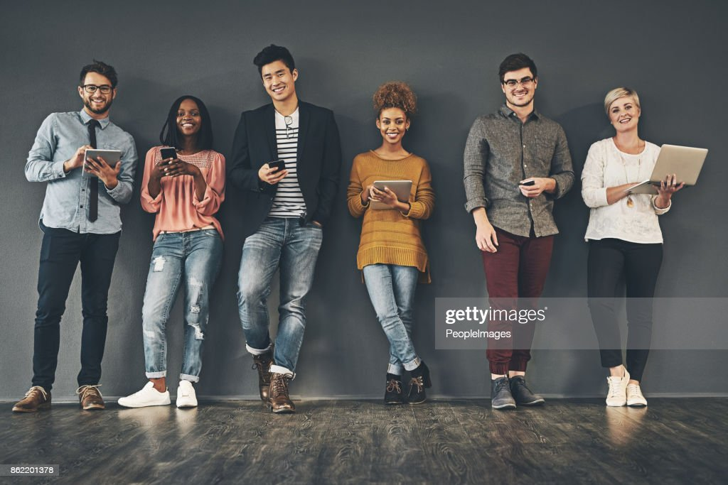 Working that social networking : Stock Photo