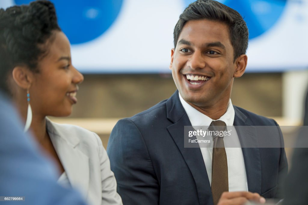 Working Together in the Boardroom : Stock Photo