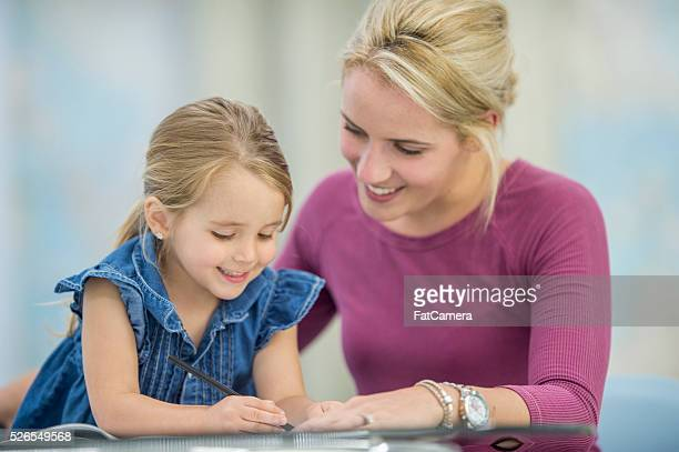 Working Together on a Homeschooling Assignment
