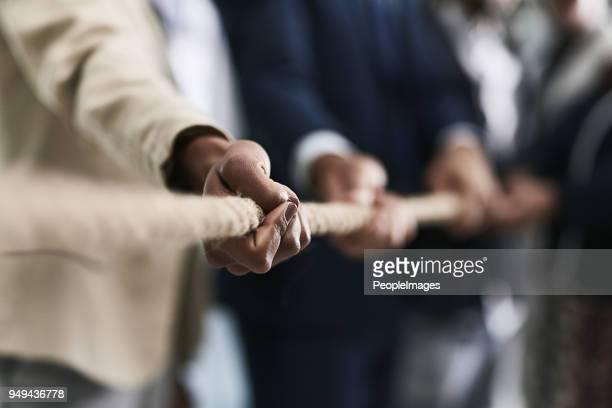 Samen werken aan touw in succes