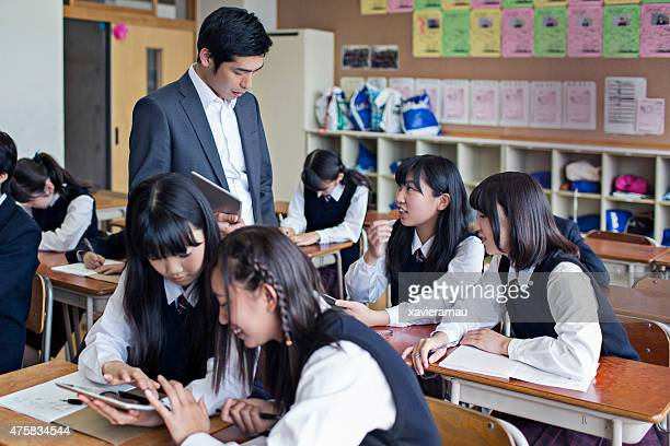 Working with digital tablets at school